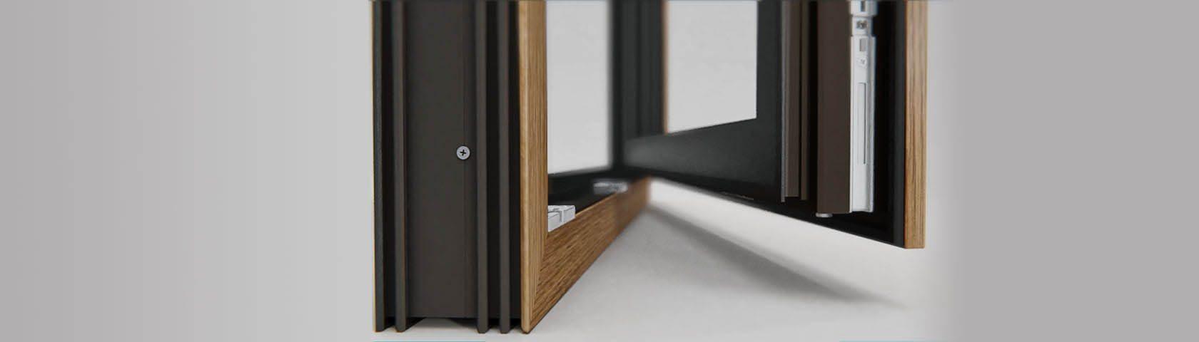 Piękne okno w dwóch kolorach