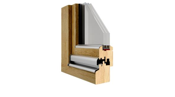 Okna drewniane Pozbud Exterm 88