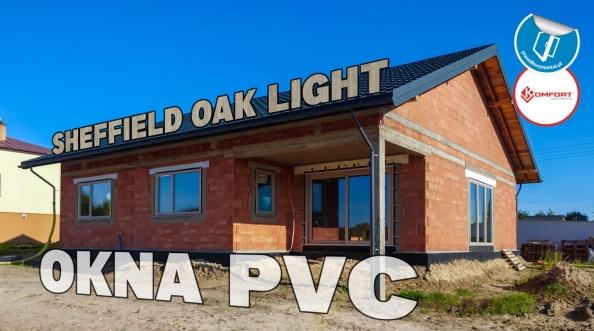 Okna PVC w kolorze Sheffield Oak Light