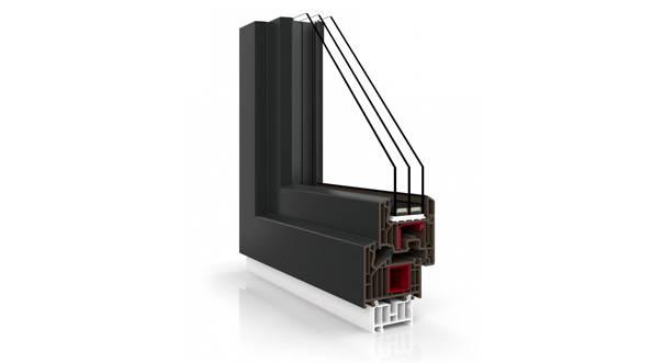 Okna PCV Vetrex<br />V82 Black Design