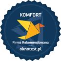 Firma Rekomendowana przez Oknotest.pl logo