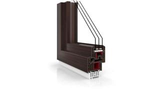 Okno Vetrex V82 Black Design mahoń