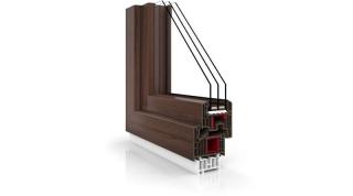 Okno Vetrex V82 Black Design siena rosso