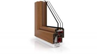 Okna PCV Vetrex VR90 Synergy Złoty Dąb