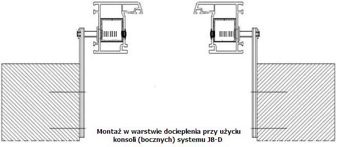 Montaż okien w warstwie ocieplenia przy użyciu konsoli systemu JB-D