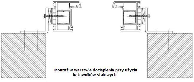 Montaż okien w warstwie ocieplenia przy użyciu kątowników stalowych
