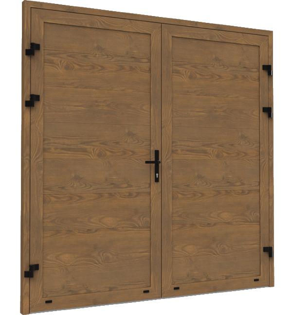 Dwuskrzydłowe boczne drzwi garażowe Krispol