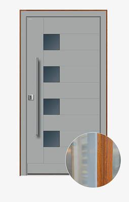 Drzwi aluminiowo-drewniane