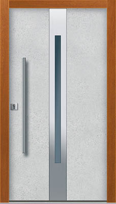 Drzwi ze strukturą betonu